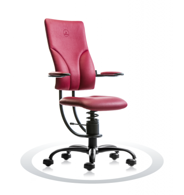 Ergonomische stoel Spinalis Apollo bordeaux