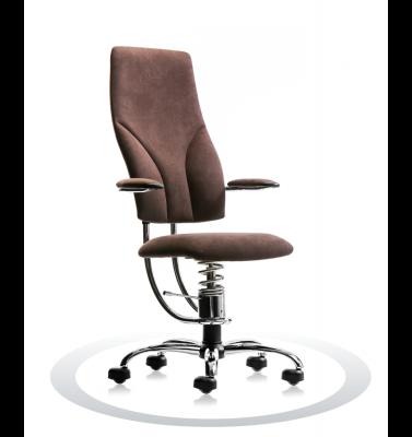 Ergonomische stoel Spinalis Navigator Chrome bruin