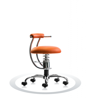 Ergonomische stoel Spinalis Smart Chrome oranje