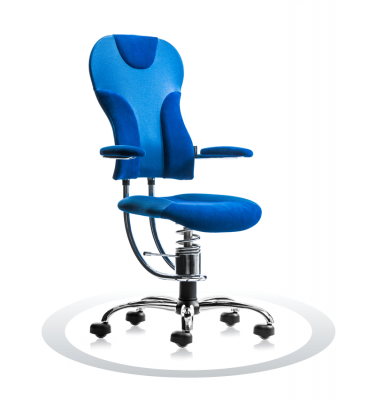 Ergonomische stoel Spinalis Spider Chrome blauw