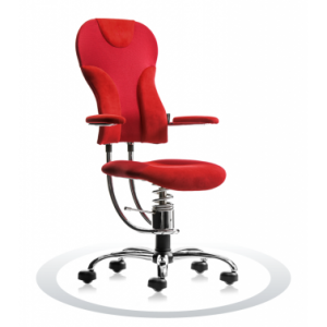Ergonomische stoel Spinalis Spider Chrome rood