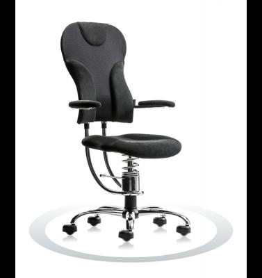Ergonomische stoel Spinalis Spider Chrome zwart