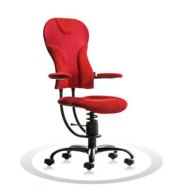 Ergonomische stoel Spinalis Spider rood
