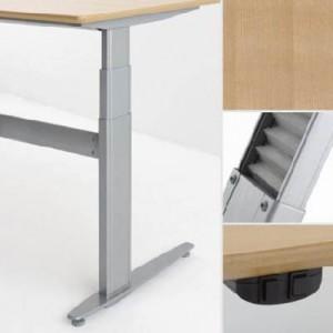 Conset zit-sta tafel Beuken fineer tafelblad