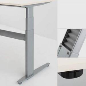 Conset zit-sta tafel Esdoorn-fineer tafelblad