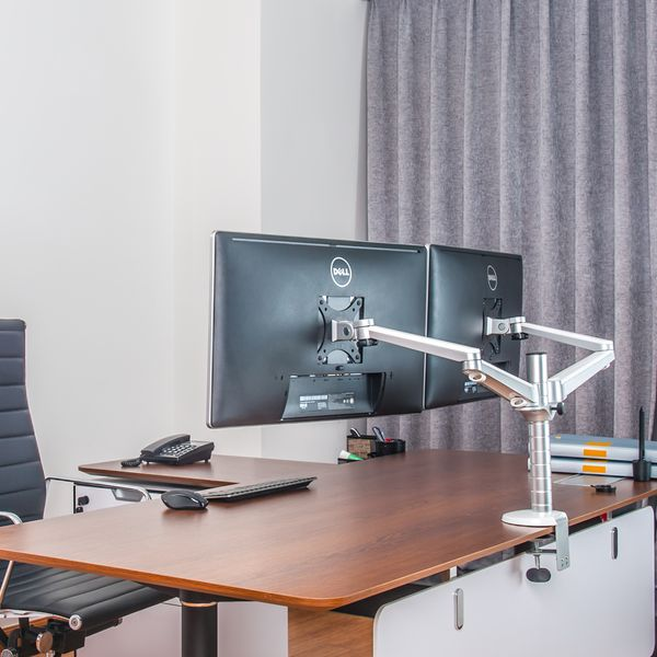 Monitor-arm Ergoline voor 2 beeldschermen