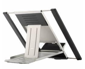 Laptop- en tabletstandaard zilver-zwart achterzijde