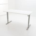 Zilver frame met wit tafelblad
