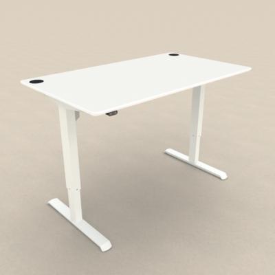 Zit sta tafel met wit blad 140 x 80 cm