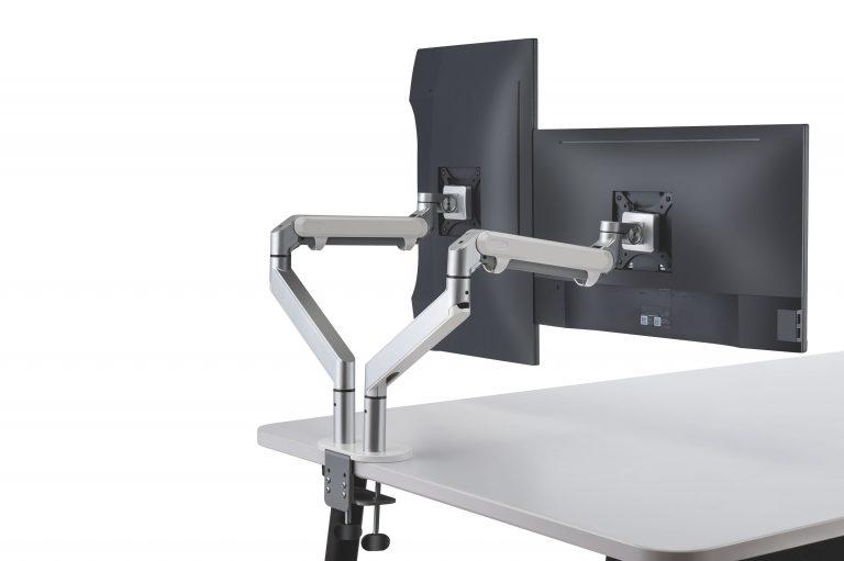 Dubbele monitor-arm met gasveer voor 2 beeldschermen