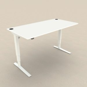 Zit-sta bureau met wit tafelblad
