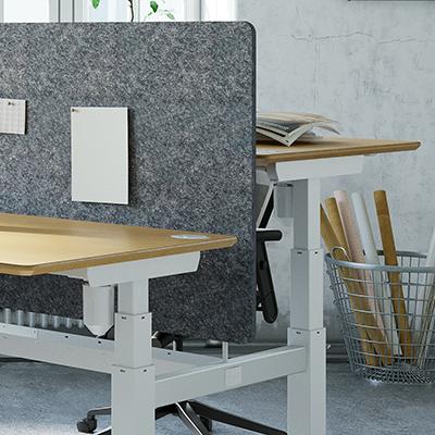 bureauscherm voor Bench-bureaus