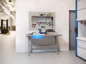 Zit-sta werktafel-onderstel (OEM)